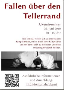 """Flyer Ukemiseminar """"Fallen über den Tellerrand"""""""