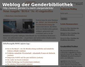 Inhaltsverzeichnis im Weblog