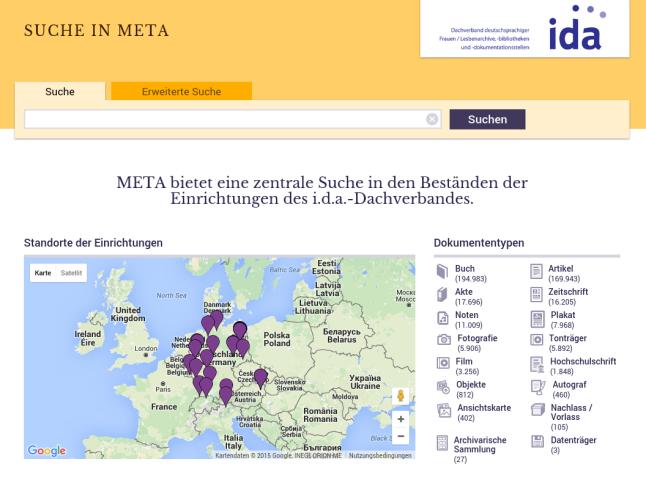 META-Katalog Startseite